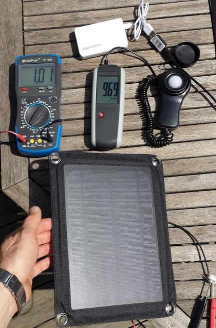 Test vom Outdoor Solar-Ladegerät Watt 01