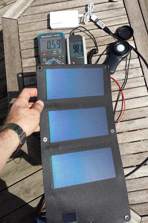 Das Solar-Ladegerät Watt 03