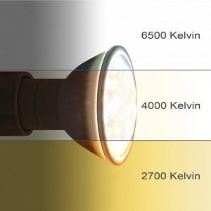 GU10 LED mit unterschiedlichen Lichtfarben