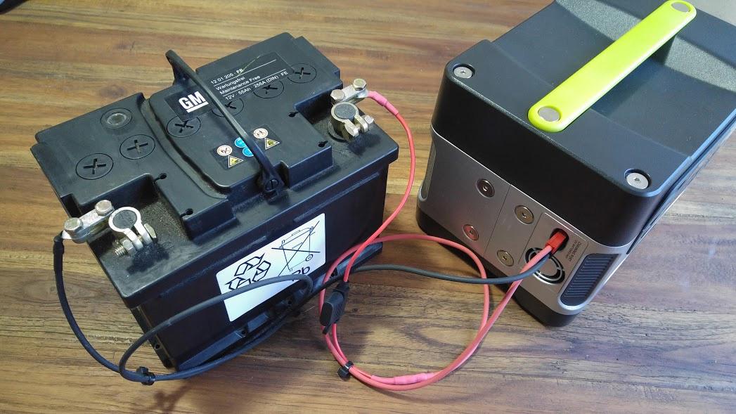 Kapazitätserweiterung des Goal Zero Yeti 400 durch eine externe Batterie