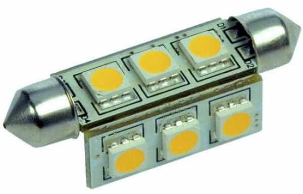 LED Soffitten, 42mm, warmweiß, 145 Lumen, dimmbar