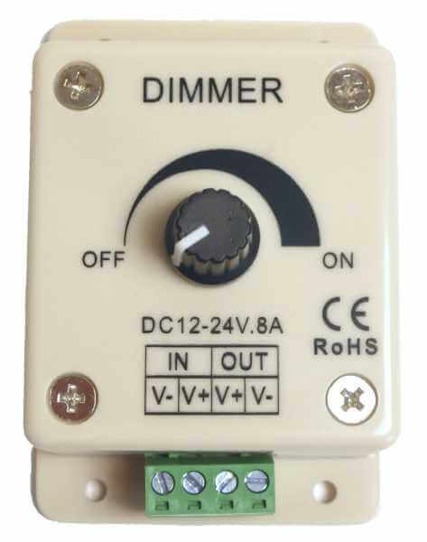 LED-Dimmer, elektronisch, 12V, 24V DC 8A